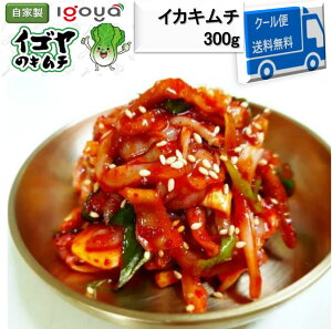 イカキムチ 300g 韓国 韓国食品 韓国キムチ 韓国産 自家製 イゴヤ 発酵 辛い 送料無料 おつまみ 珍味 ギフト