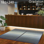 竹カーペットラググラデーションブルー180x240約3畳接触冷感体感温度—2℃