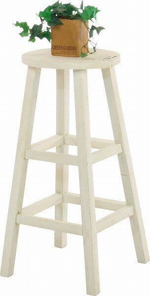mokuシリーズ『木製フラワースタンド ハイラウンド』【IT】ホワイト(#9847240)、ブラウン(#9847250)幅28×奥行28×高さ55cm丸型 アンティーク 木製 家具 雑貨 ラック ダメージ 素朴 フラワースタンド 花 置き 鉢置き