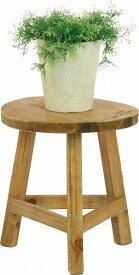 【P10倍2/23 20時〜4時間限定】mokuシリーズ『木製フラワースタンド ローラウンド』【IT】ホワイト(#9847260)、ブラウン(#9847270)幅21×奥行21×高さ23cmアンティーク 丸型 木製 家具 雑貨 ラック ダメージ フラワースタンド ガーデニング