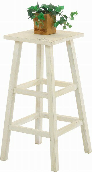 mokuシリーズ『木製フラワースタンド ハイスクエア』【IT】ブラウン ホワイト幅28.5×奥行28.5×高さ55cmアンティーク 角形 木製 家具 ラック フラワースタンド 鉢置き 台