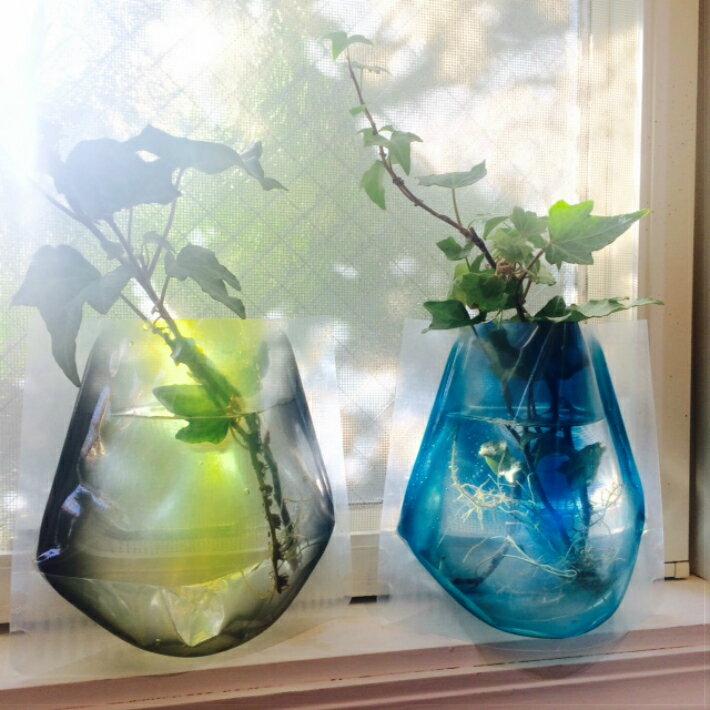 【D-BROS】フラワーベースミニ イエロー&ブルー (2枚入り) 花瓶 ネコポス便(378円)利用可 プチギフト