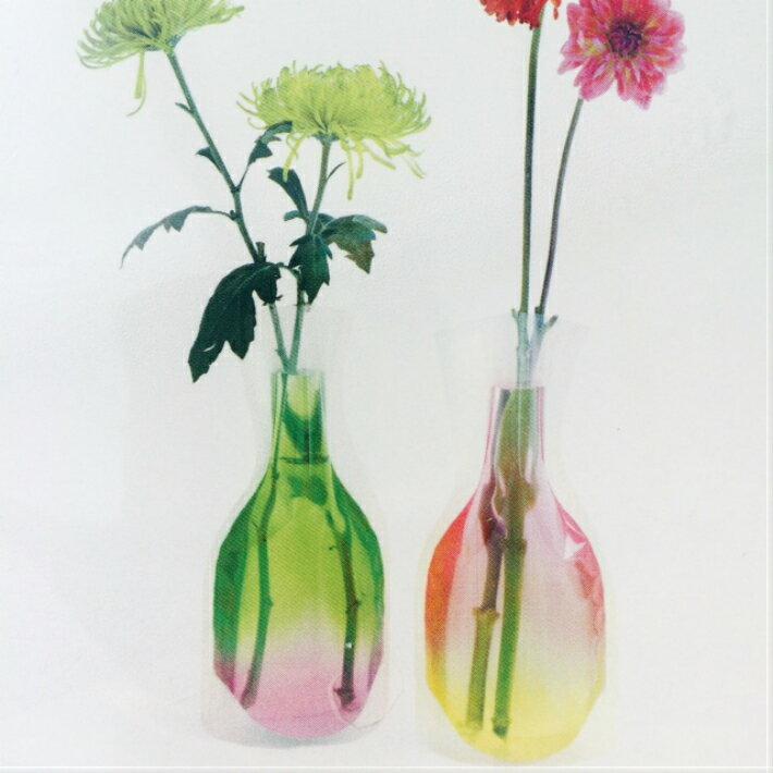 【D-BROS】フラワーベース / ジェリーピーチ (2枚入り) 花瓶 ネコポス便(378円)利用可 プチギフト