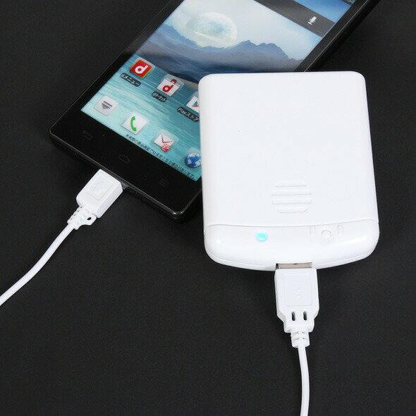 【送料無料】スマートフォン用電池式充電器IBCU4-SPC02W単3電池4本付属Micro-USB対応【ホワイト】乾電池 軽量【宅急便のみ】【20P03Dec16】