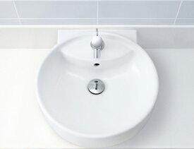 ▽INAX/LIXIL 【L-543FC】丸形洗面器 (本体のみ) ベッセル・壁付兼用式
