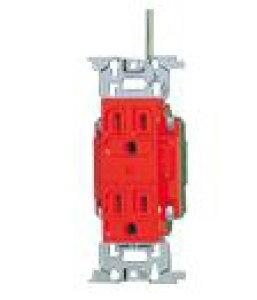 パナソニック 配線器具【WN1318RK】フルカラー医用埋込アース付ダブルコンセント(赤)