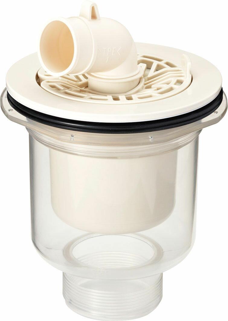 INAX ユーティリティ 洗濯機パン 部材【TP-53】ABS製排水トラップ(タテビキ・透明)