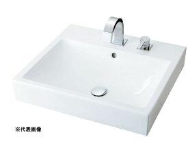 ###INAX/LIXIL 角形洗面器 ベッセル式【YL-A536JYND(C)】(スクエアタイプ) 寒冷地 シングルレバー混合水栓セパレートタイプ 壁排水(Pトラップ) 床給水