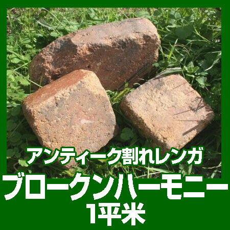 アンティークレンガ 割れレンガ ブロークンハーモニー (1平米分)【02P29Aug16】