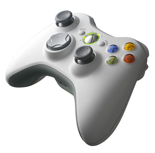 Xbox 360 ワイヤレスコントローラー ホワイト エックスボックス 【中古】 4988648319653 送料無料