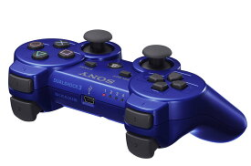 PS3 プレステ3 プレイステーション3 ワイヤレスコントローラ (DUALSHOCK3) メタリック・ブルー コントローラー PlayStation3 SONY ソニー 4948872412278 【中古】