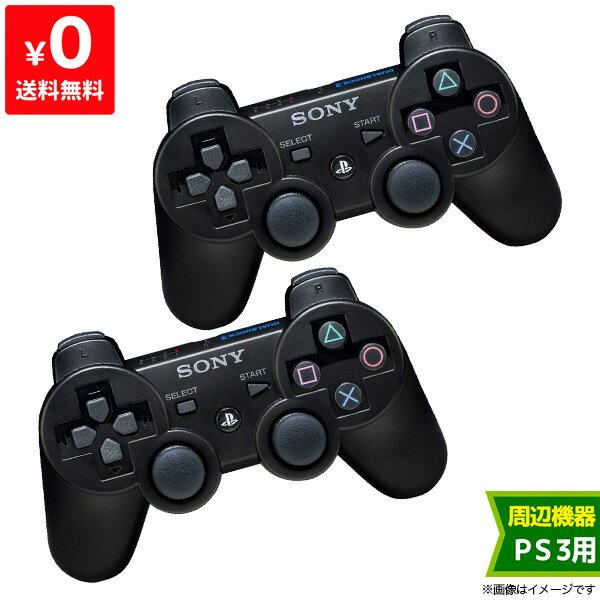 【送料無料】PS3 コントローラー 純正 ブラック 2個セット【中古】