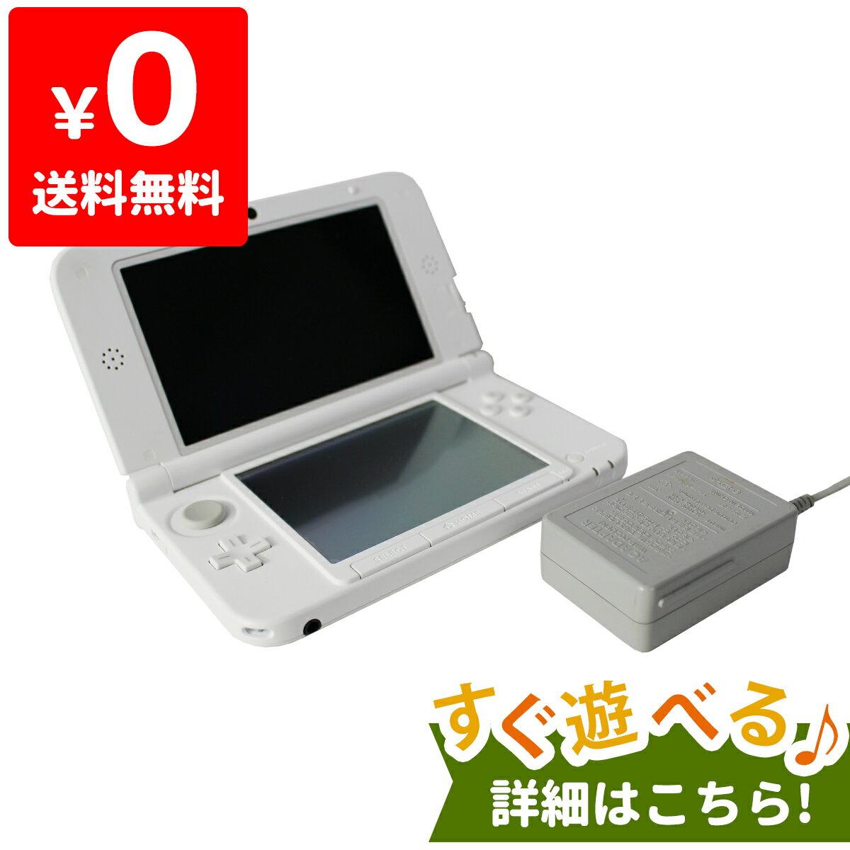 3DSLL ニンテンドー3DS LL ホワイト 本体 すぐ遊べるセット Nintendo 任天堂 ニンテンドー 中古 4902370519563 送料無料 【中古】