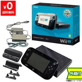 WiiU ニンテンドーWii U ウィーユー プレミアムセット 本体 kuro 黒 任天堂 Nintendo 付属品完品 4902370519884【中古】