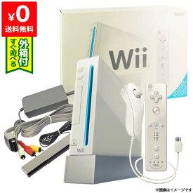 Wii ニンテンドーWii 本体 (シロ) Wiiリモコンプラス付き (RVL-S-WAAG) 完品 外箱付き Nintendo 任天堂 4902370518382【中古】