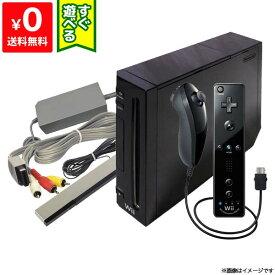 Wii ニンテンドーWii 本体 (クロ) Wiiリモコンプラス ヌンチャク同梱 (RVL-S-KAAH)本体 すぐ遊べるセット Nintendo 任天堂 4902370518399【中古】