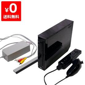 Wii ウィー 本体 クロ 黒 ニンテンドー 任天堂 Nintendo 中古 すぐ遊べるセット 4902370517811 送料無料 【中古】
