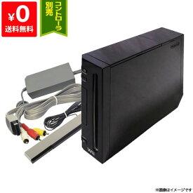 Wii ニンテンドーWii 本体 クロ 黒 任天堂 Nintendo 4点セット【中古】