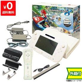 WiiU ニンテンドーWii U ウィーユー マリオカート8 セット 本体 シロ 白 任天堂 Nintendo 付属品完品 4902370522945【中古】