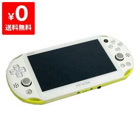 PSVita 2000 PlayStation Vita Wi-Fiモデル ライムグリーン/ホワイト (PCH-2000ZA13) 本体のみ PlayStationVita SONY ソニー 4948872413671 【中古】