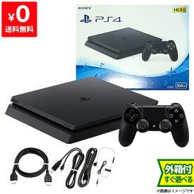 PS4 本体 付属品完備 完品 プレステ4 最新 CUH-2100AB01 500GB ジェット・ブラック【中古】