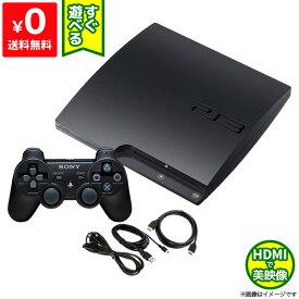 PS3 本体 中古 純正 コントローラー 1個付き すぐ遊べるセット CECH-2100A チャコール・ブラック HDMIケーブル付き 送料無料