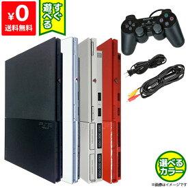 【送料無料】PS2 プレステ2 本体 中古 純正 コントローラー 1個付き すぐ遊べるセット SCPH 90000CB CW SS CR【中古】