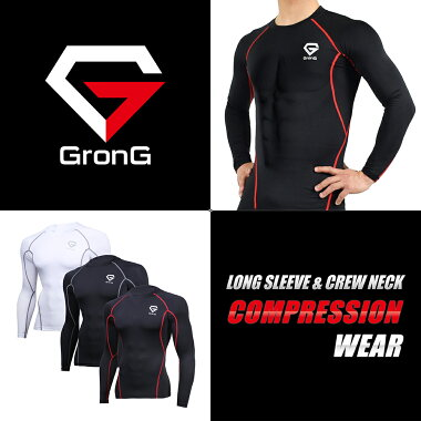 GronGコンプレッションウェアスポーツインナー長袖メンズUPF50+