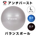 GronG(グロング) バランスボール Lサイズ 65〜75cm 空気入れ付き アンチバースト ヨガボール 耐荷重200kg