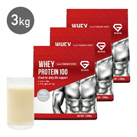 GronG プロテイン ホエイプロテイン100 人工甘味料・香料無添加 ナチュラル 3kg おきかえダイエット 筋トレ トレーニング