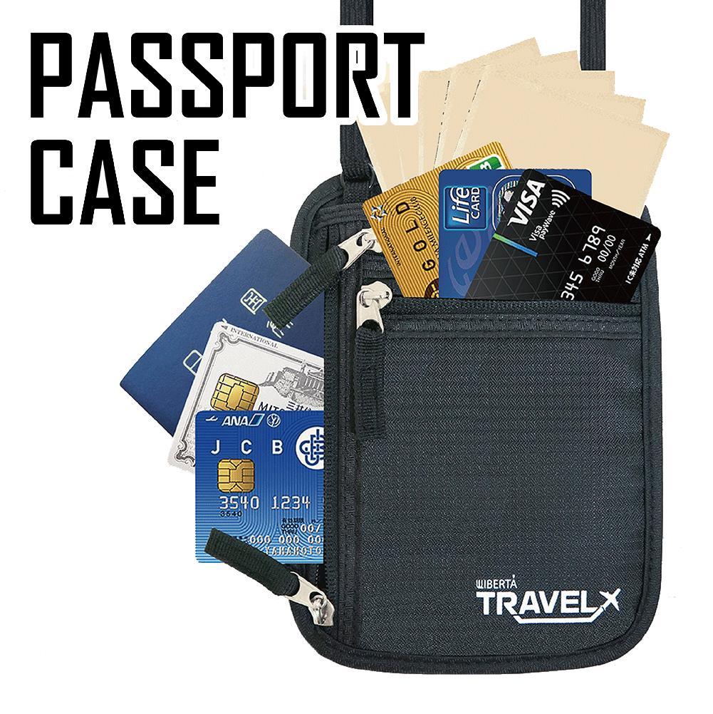 パスポートケース 首下げ 貴重品入れ ネックポーチ 首かけ 旅行用 便利グッズ