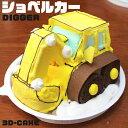 ショベルカー ケーキ 5号 ギフト お誕生日ケーキ 子供 こども 男の子 面白い おもしろい おもしろ ユンボ 乗り物 バー…