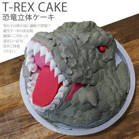 【クーポン利用で20%OFF】 恐竜 ケーキ ティラノサウルス 5号 ギフト お誕生日ケーキ 子供 こども 男の子 面白い おもしろい おもしろ T-REX TREX バースデーケーキ 立体ケーキ 記念日ケーキ サプライズ キャラクター 送料無料