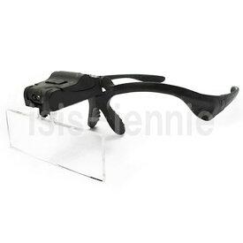 LEDライト付き ヘッド ルーペ レンズ5枚セット LED 眼鏡型 ルーペ(送料無料・北海道、沖縄、離島は発送不可)