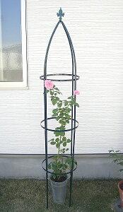バラ・クレマチスに鉄製オベリスク高さ193cm【薔薇】【つるバラ】【クライマー】【つる性】【タワー】
