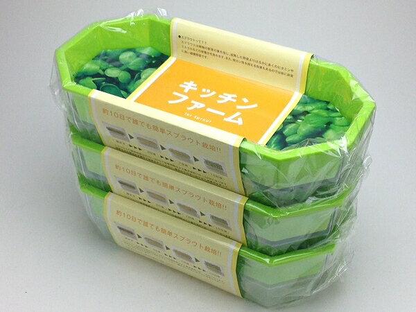 キッチンで楽々野菜栽培250型 3個セットキッチンファーム【スプラウト】【ブロッコリー】【かいわれ】【抗酸化物質】【肝機能】【スルフォラファン】【ブロッコリースプラウト】【ダイエット】