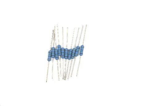 電気工事士技能試験対策品・半導体・工具・事務用品│各社〓カーボン抵抗(炭素皮膜抵抗)1W 抵抗 10本〓22Ω ストレート