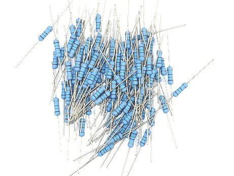 電気工事士技能試験対策品・半導体・工具・事務用品│各社〓カーボン抵抗(炭素皮膜抵抗)1W 抵抗 100本〓4.7KΩ ストレート