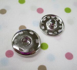 スナップボタン ゴンドラスナップ 21ミリ 白(シルバー・ニッケル) (1個バラ売り)