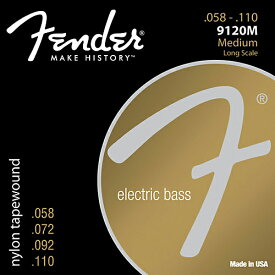 Fender USA 9120M Nylon Tapewound Bass Strings(058-110)[エレキベース弦] (#0739120406)