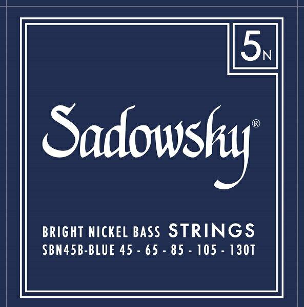 Sadowsky ELECTRIC BASS STRINGS [Blue Label Nickel Bass 5st/SBN45B Blue]