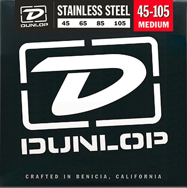 Dunlop (Jim Dunlop) Stainless Steel Electric Bass Strings 4st. DBS45105 [MEDIUM/45-105]