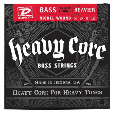 Dunlop (Jim Dunlop) HEAVY CORE BASS STRINGS 4st. [HEAVIER/55-115]