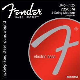 Fender USA Super 72505M 5-Strings Medium (045-125) [エレキベース弦] (#0737250456)
