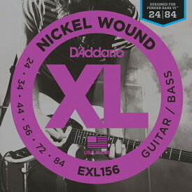 D'Addario Nickel Wound Guitar/Bass Strings EXL156 [Fender Bass VI用]