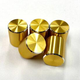 """HATA ミニノブ(ドット有り) """"GOLD"""" 5個セット [コントロールノブ] 【数量限定特価】"""