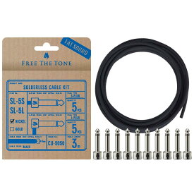 Free The Tone CU-5050用ソルダーレスプラグキット [S&Lプラグ各5個 / ケーブル3m] [SL-5SL-NI-55K(NICKEL)]
