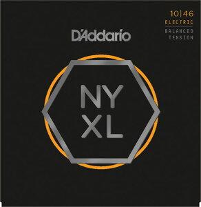 D'Addario NYXL Series Electric Guitar Strings Balanced Tension [NYXL1046BT Regular Light, 010-046]