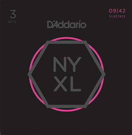 D'Addario NYXL Series Electric Guitar Strings NYXL0942-3P[3セットパック]