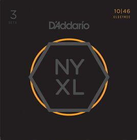 D'Addario NYXL Series Electric Guitar Strings NYXL1046-3P[3セットパック]